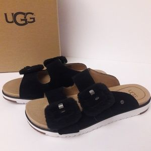 New UGG Fluff Indio Sandals Size 9